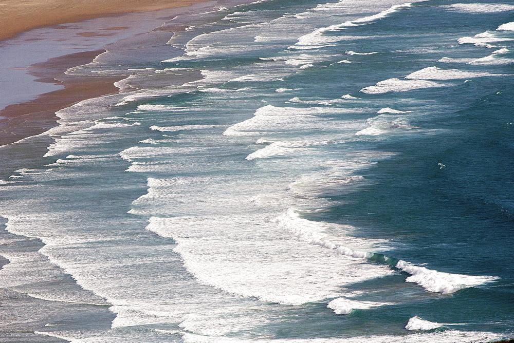 Te Werahi Beach with surf, Cape Reinga, most northerly point, Tasman Sea, North Island, New Zealand