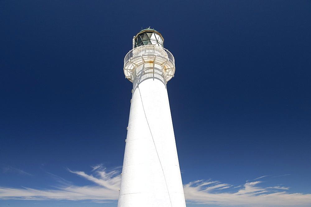 Castle Point white Lighthouse, Wellington Region, North Island, New Zealand