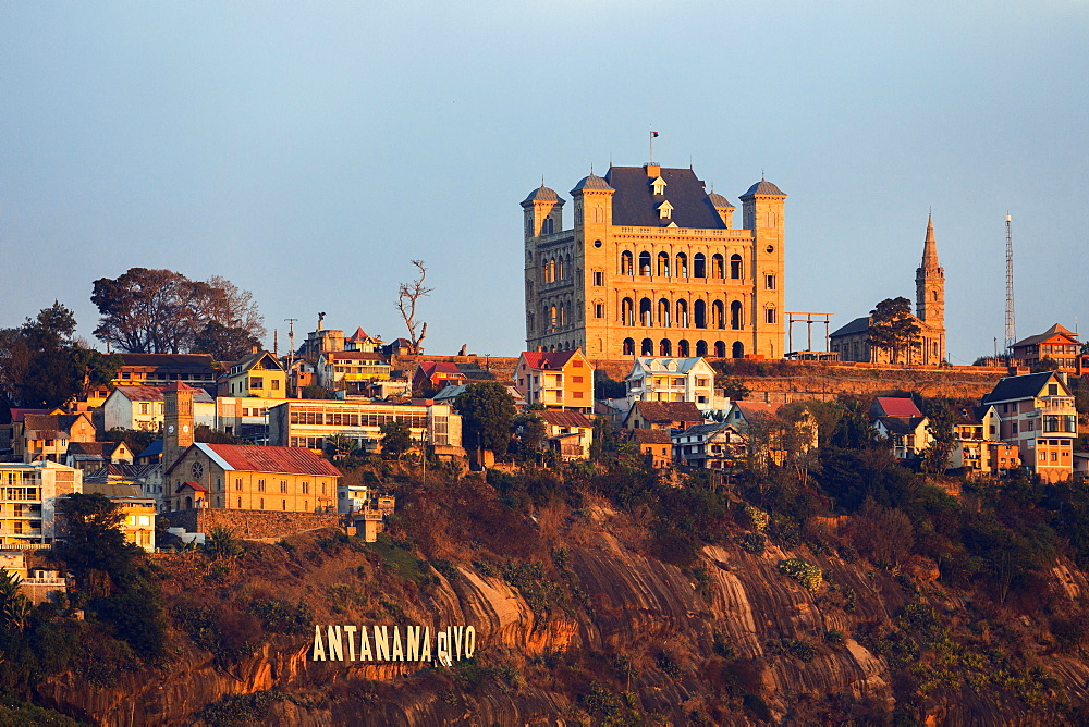 King's Palace, Rova, Analamanga hill, Antananarivo, capital, central highlands, Madagascar, Africa