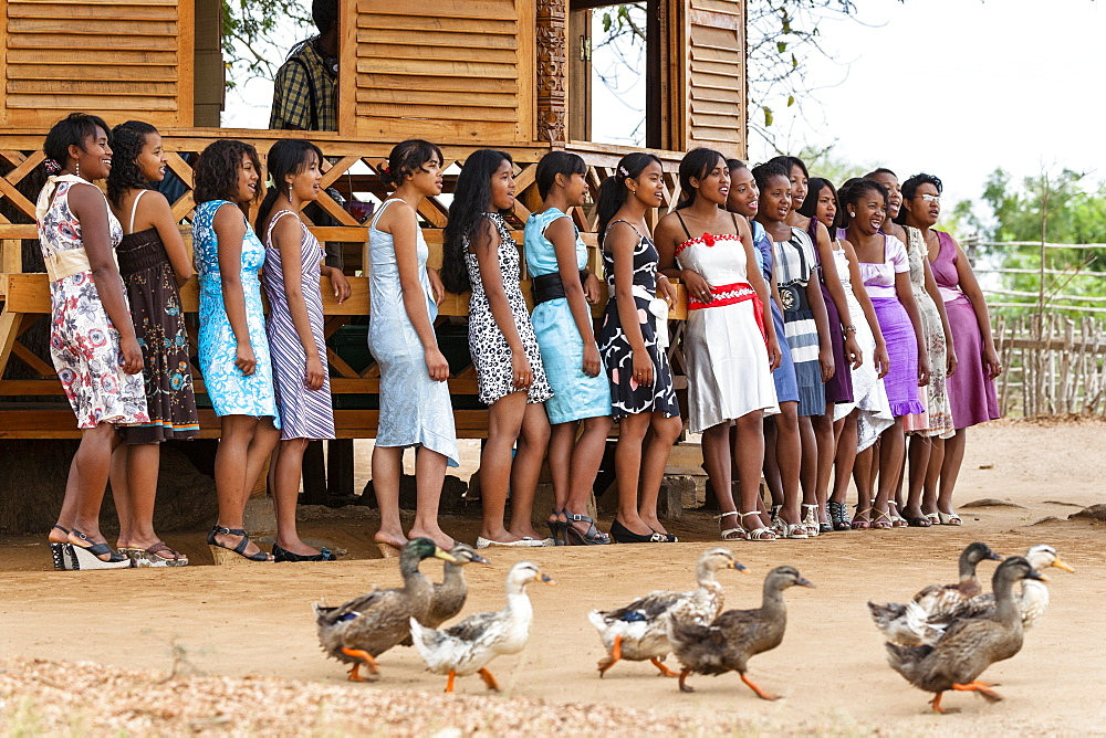 Group of singers, Morondava, West Madagascar, Africa
