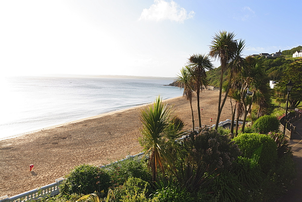 View over Porthminster Beach, St. Ives, Cornwall, England, United Kingdom