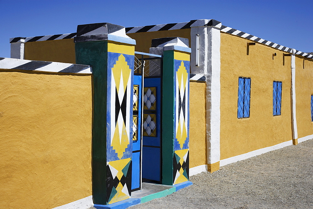 Colorful gate, Dongola, Northern, Sudan
