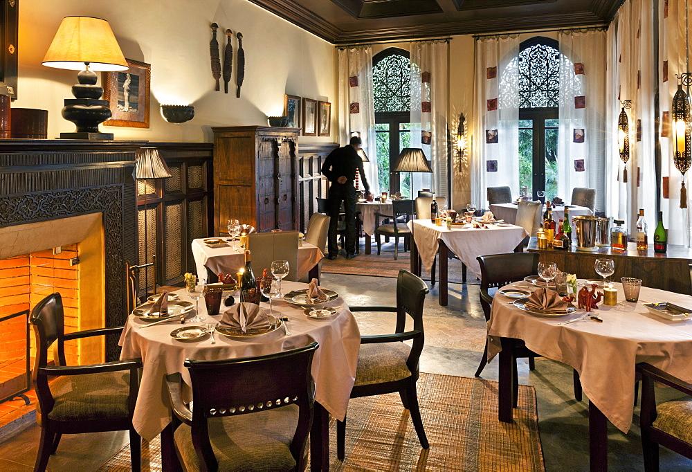Dining room, Villa des Orangers, Marrakech, Morocco