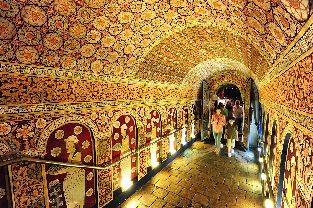 Entrance to The Temple of the Tooth Relic, Sri Dalada Maligawa, a buddhist sanctuary, UNESCO world cultural heritage, Kandy, Central Province, Ceylon, Sri Lanka, Asia - 1113-97531
