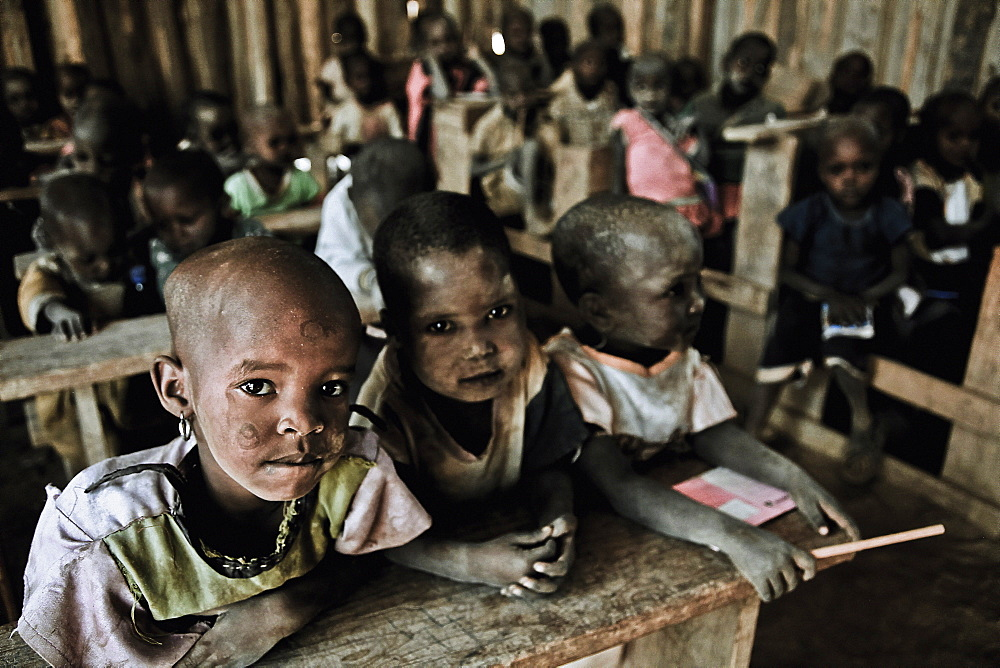 Children in a Massai village school, Kenya, Africa