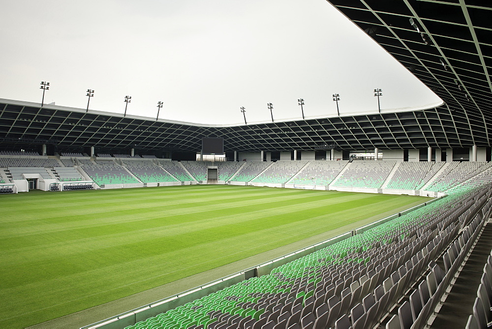 Stozice stadium with soccer court, capital Ljubljana, Slovenia
