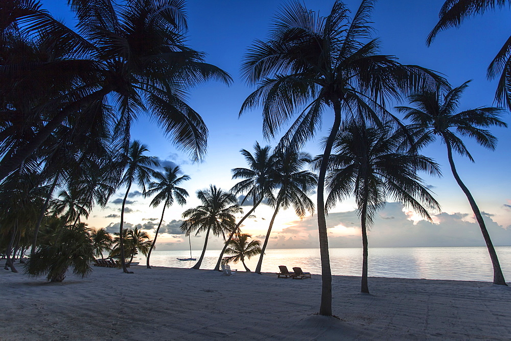 Beach at sunrise at Moorings Village Resort, Islamorada, Florida Keys, Florida, USA