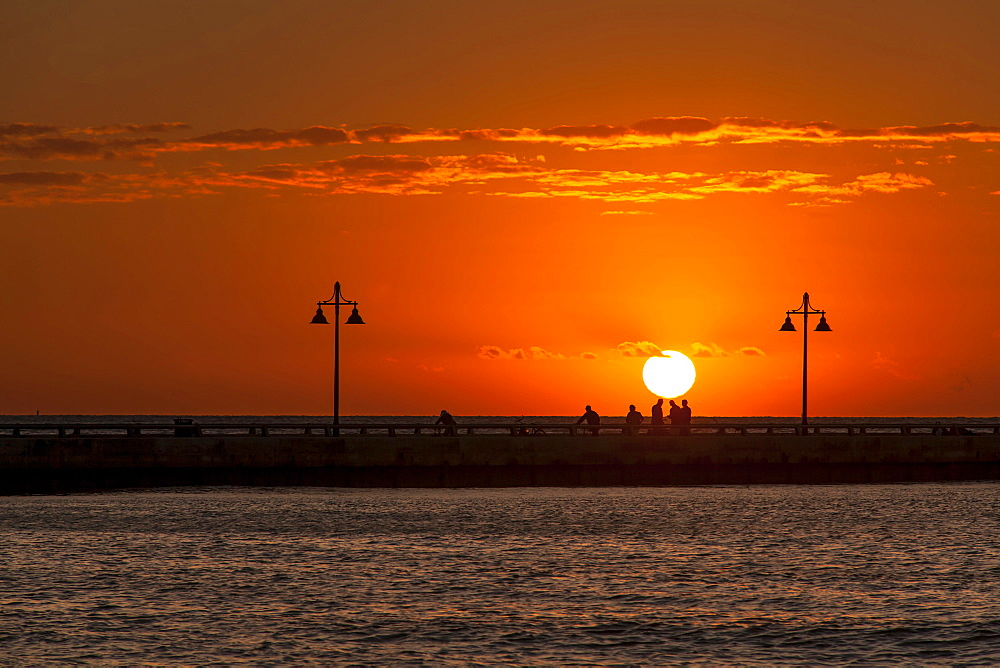 Sunrise at White Street Pier, Key West, Florida Keys, Florida, USA