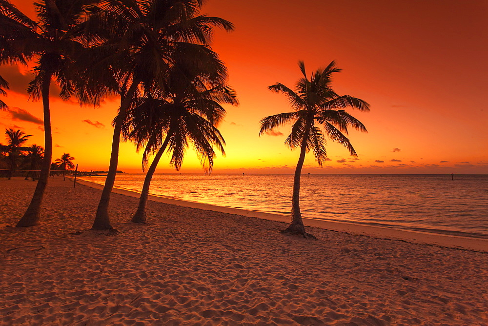 Morning impression at sunrise on Key West Smathers Beach, Key West, Florida Keys, Florida, USA