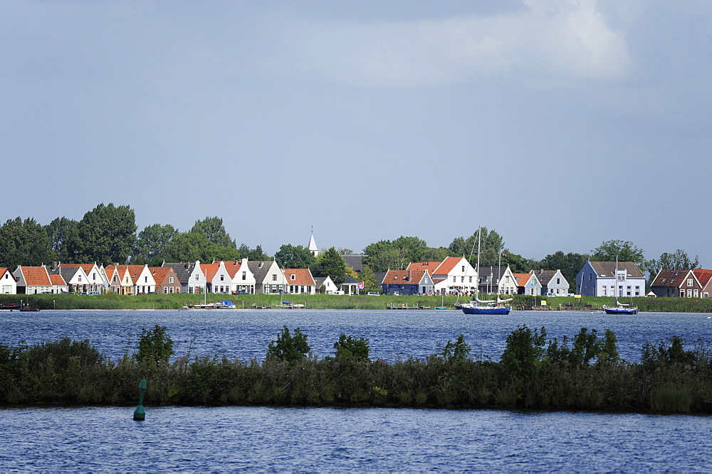 Traditional housing at the IJmeer lake, Durgerdam, Amsterdam, Holland, the Netherlands