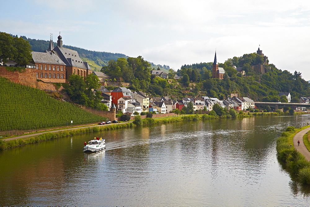 Viwe at Saarburg, Saar, Rhineland-Palatinate, Germany, Europe