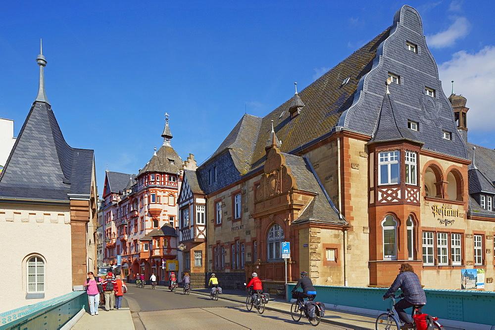 Post office and Lorettahaus, Art Nouveau, Traben, Traben-Trarbach, Mosel, Rhineland-Palatinate, Germany, Europe