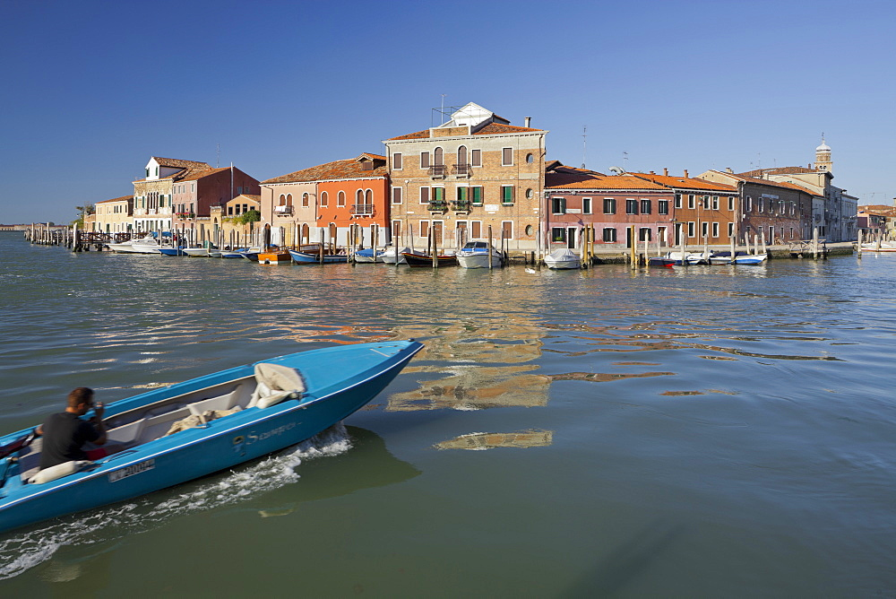 Boat on the Canal Grande di Murano, Venice, Italy