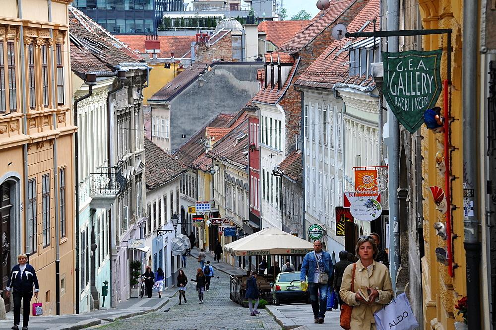 View of under town through Radiceva, Zagreb, Croatia