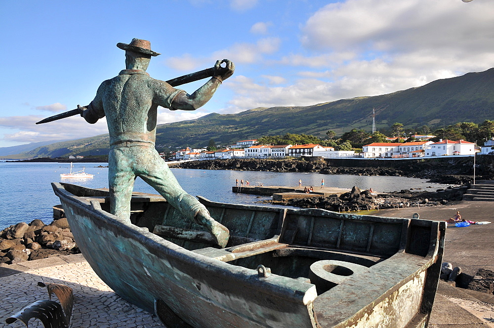 Whale fishing monument in Sao Roque do Pico, Island of Pico, Azores, Portugal