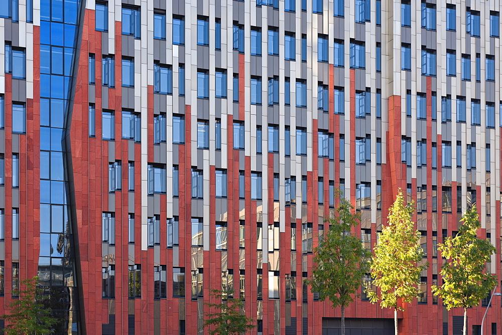 House facade in the Tokio Road, Hamburger Hafencity, Hamburg, Germany