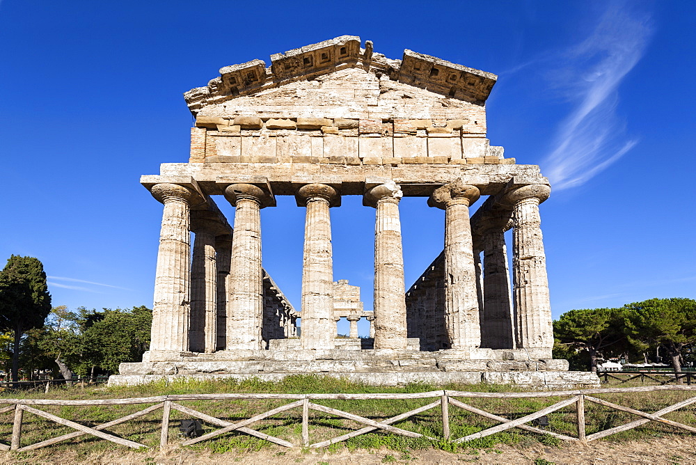 Temple of Athena, historic town of Paestum in the Gulf of Salerno, Capaccio, Campania, Italy, Europe
