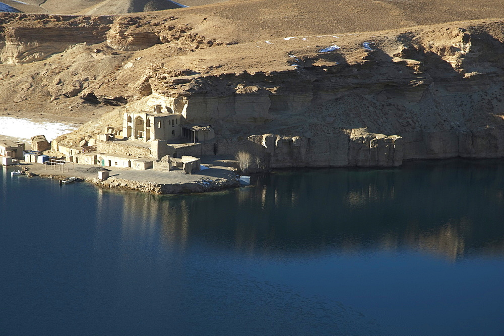 Qadamjoy Shah-i-Aulia Shrine beside the Band-i-Haibat (Dam of Awe), Band-i-Amir, Bamian Province, Afghanistan