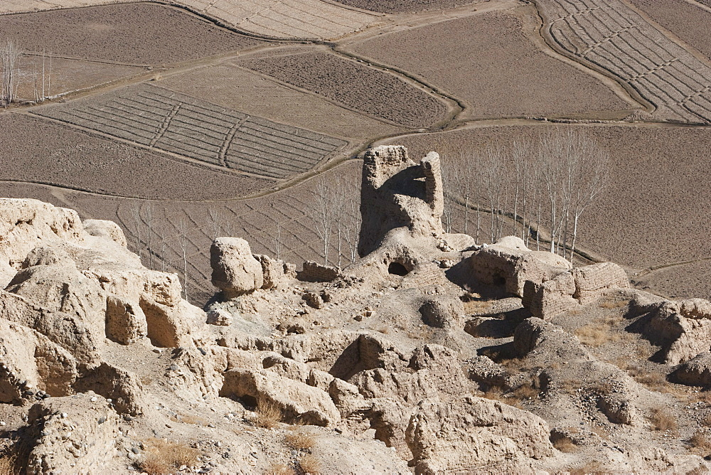 The Islamic city of Shar e Gholgola at Bamiyan was destroyed by Genghis Khan in 1221. The ruins of the citadel are also known as the City of Sighs., Bamian Province, Afghanistan