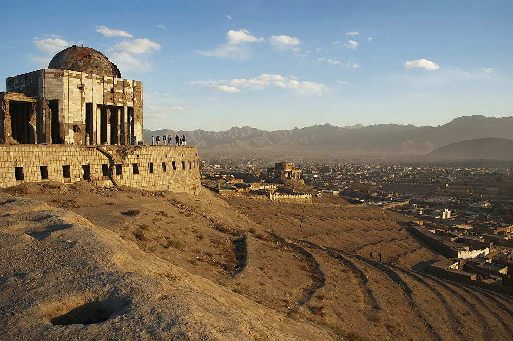 Mausoleum of King Mohammad Nadir Shah and Tomb of Sultan Mohammad on the Tapa Maranjan Ridge in Kabul,, Afghanistan