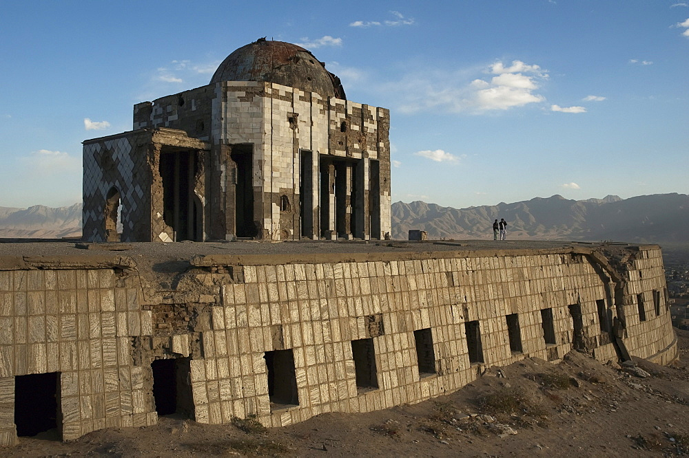 Mausoleum of King Mohammad Nadir Shah (King of Afghanistan from 1925 to 1933) on the Tapa Maranjan Ridge in Kabul,, Afghanistan