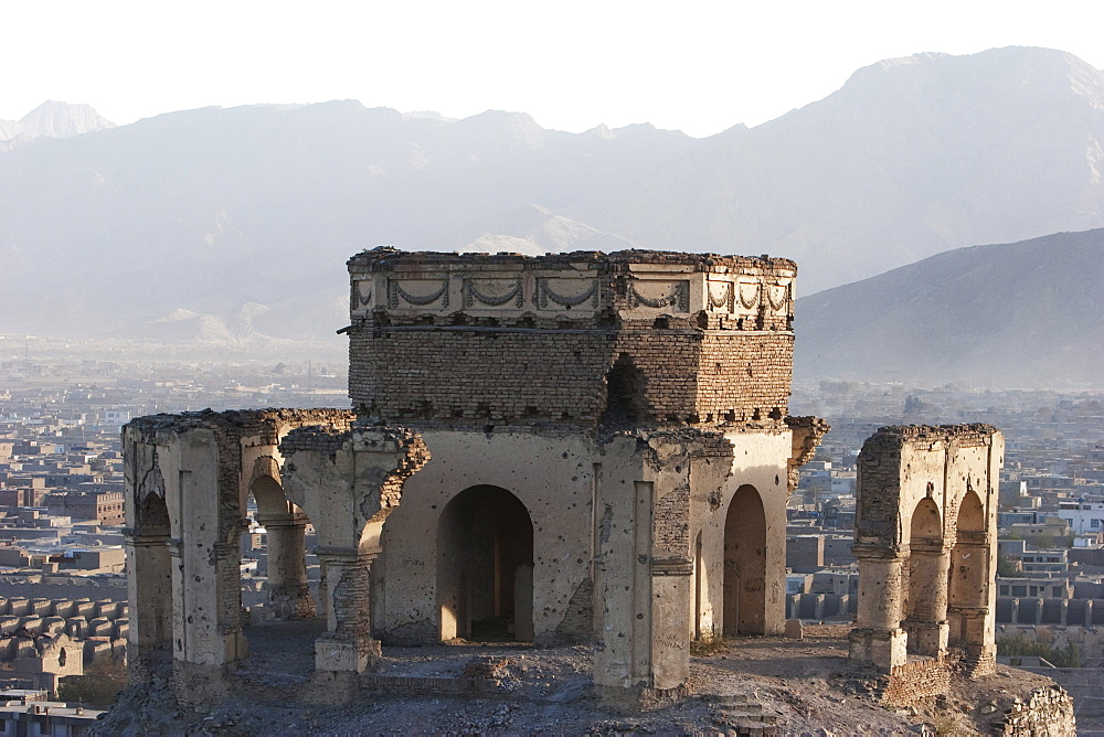 Tomb of Sultan Mohammad on the Tapa Maranjan Ridge in Kabul,, Afghanistan