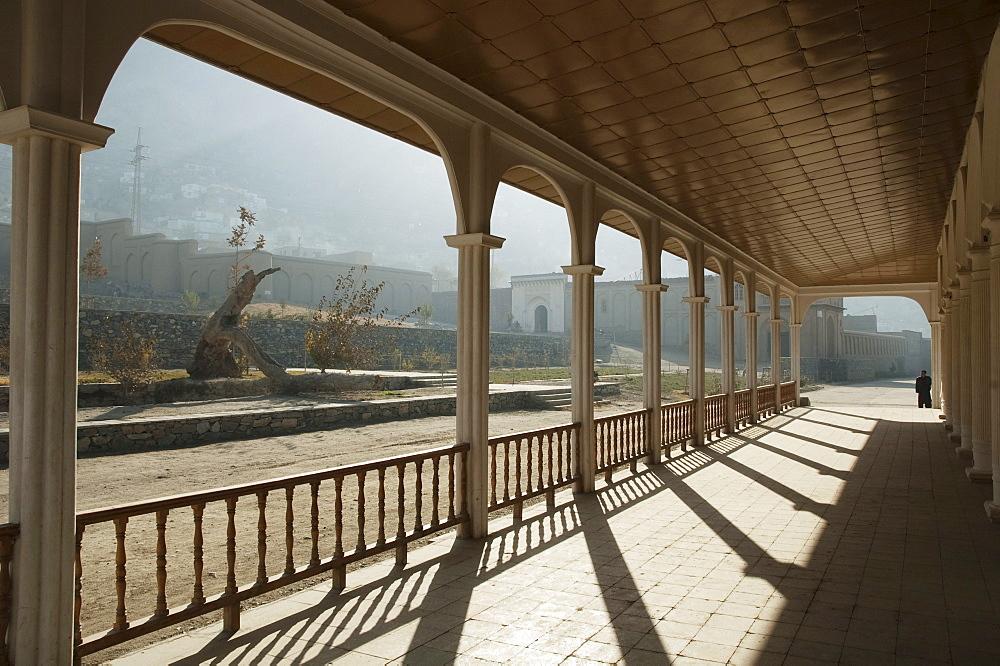 Pavilion portico at the Bagh-i-Babur Shah (Babur's Garden) - Kabul,, Afghanistan