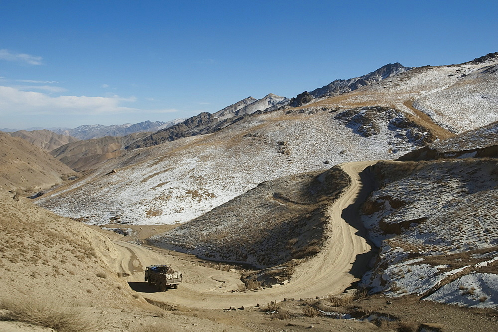 Road through the Unai Pass, Vardak Province, Afghanistan