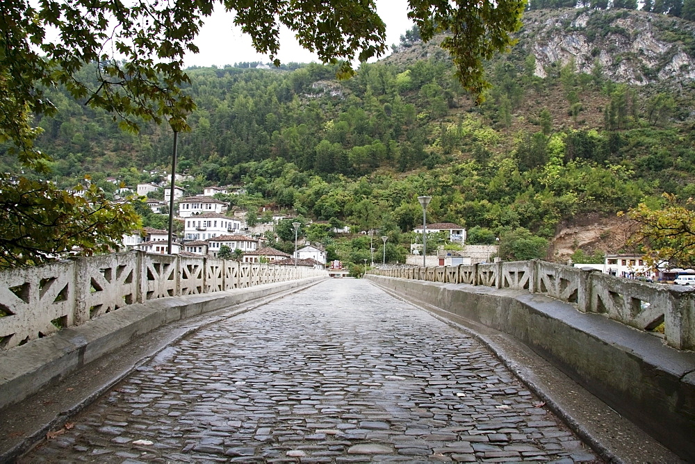 Gorica Bridge (17th century) over the Osumi River, Berat, Albania