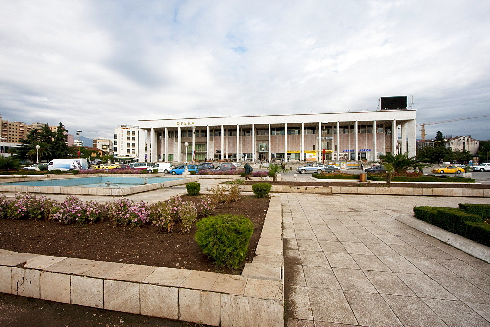Opera house on Skanderbeg Square, Tirana, Albania