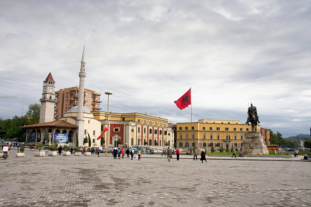 Et'hem Bey Mosque on Skanderbeg Square, Tirana, Albania