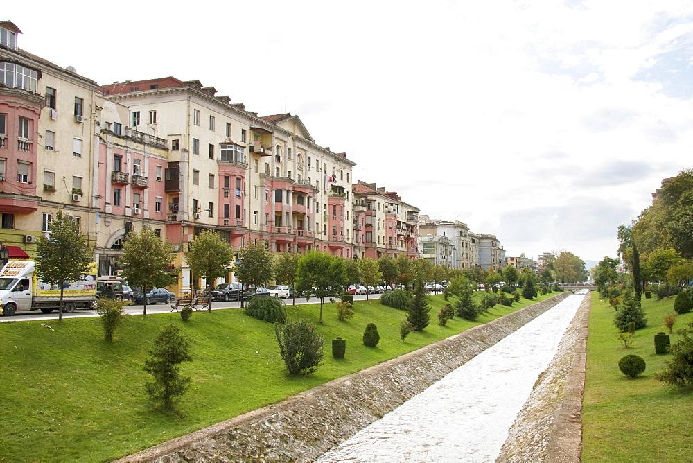 Buildings on Gjergj Fishta Boulevard, Tirana, Albania