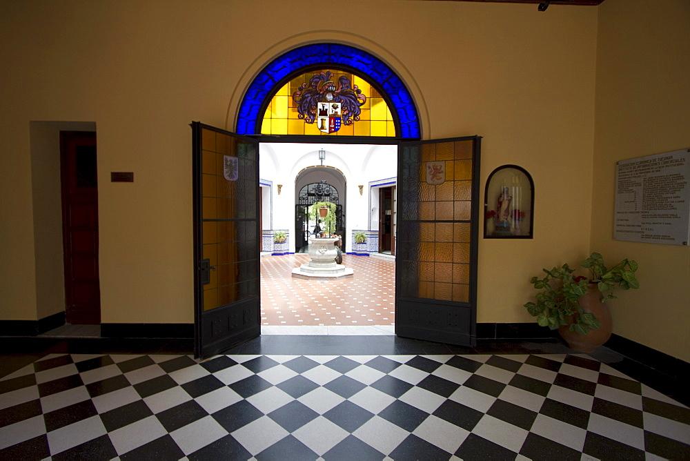 Moorish courtyard of Ex Casa Frias Herrera, San Miguel de Tucuman, Argentina