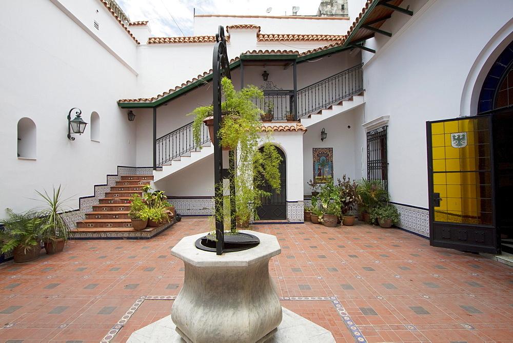 Fountain in the Moorish courtyard of Ex Casa Frias Herrera, San Miguel de Tucuman, Argentina
