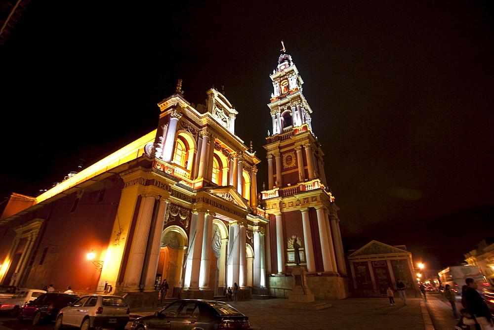 Church of San Francisco at night, Salta, Salta, Argentina