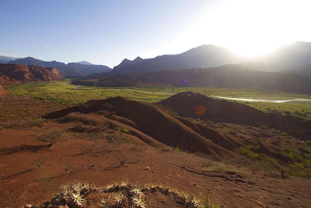 Panoramic view of Quebrada de las Conchas from Tres Cruces, Valles Calchaquies, Salta, Argentina