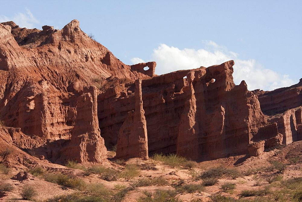 Las Ventanas rock formation in Quebrada de las Conchas, Valles Calchaquies, Salta, Argentina