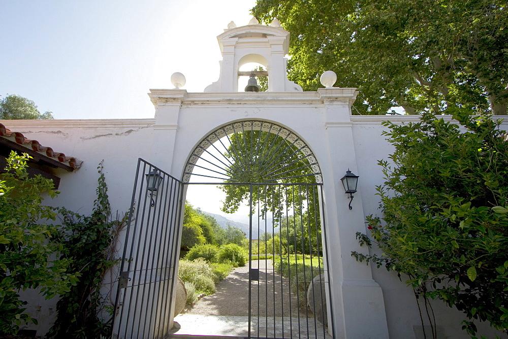 Entrance to Hotel Patios de Cafayate at Bodega El Esteco, Cafayate, Salta, Argentina