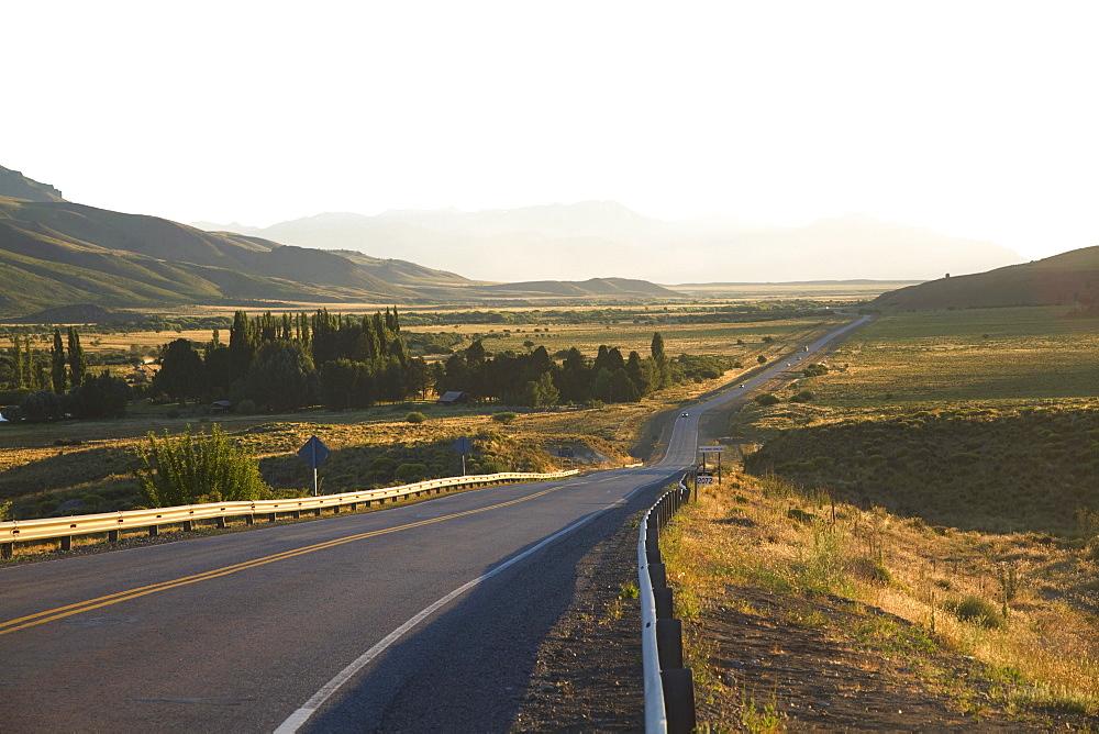 Ruta Nacional 40 through the hills of Anfiteatro, Rio Negro, Argentina