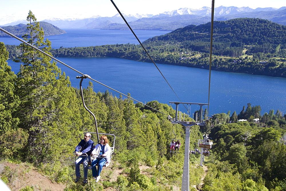 Chair lift on Cerro Campanario, San Carlos de Bariloche, Nahuel Huapi National Park, Rio Negro, Argentina