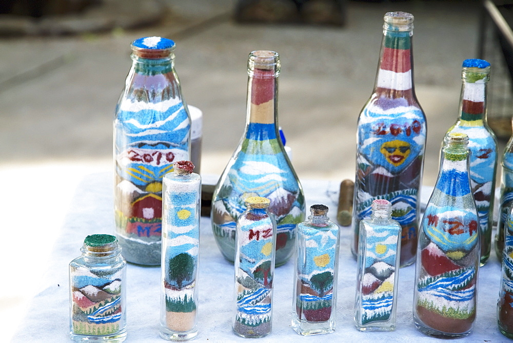Landscapes in sand bottles, Mendoza, Argentina