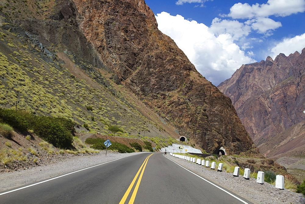 Tunnel on Ruta Nacional 7, Chorrillos Range of the Andes Mountains, Mendoza, Argentina