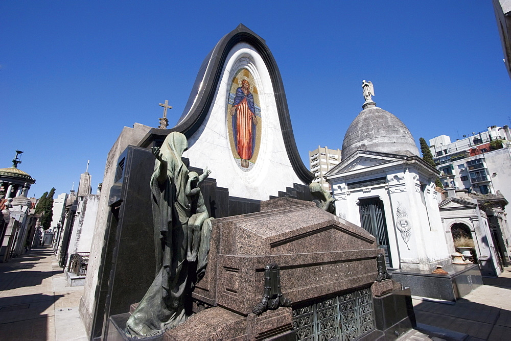 Art Nouveau mausoleum at the Cementerio de la Recoleta, Buenos Aires, Capital Federal, Argentina