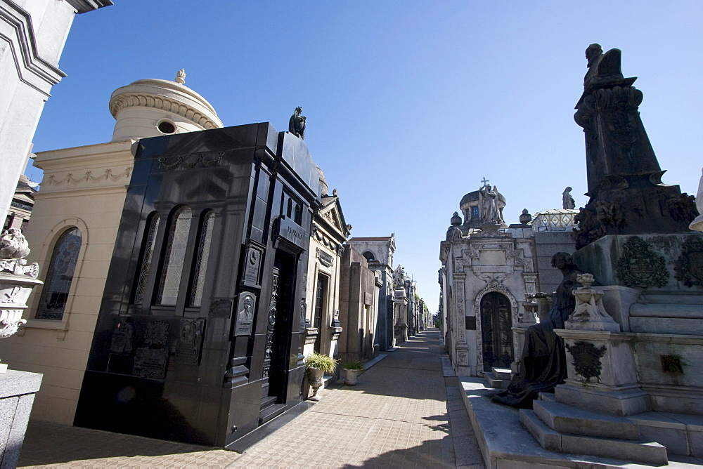 Mausoleums at the Cementerio de la Recoleta, Buenos Aires, Capital Federal, Argentina