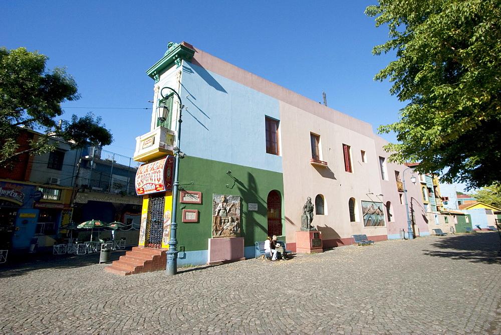 Calle Caminito Street-Museum, Barrio La Boca, Buenos Aires, Capital Federal, Argentina