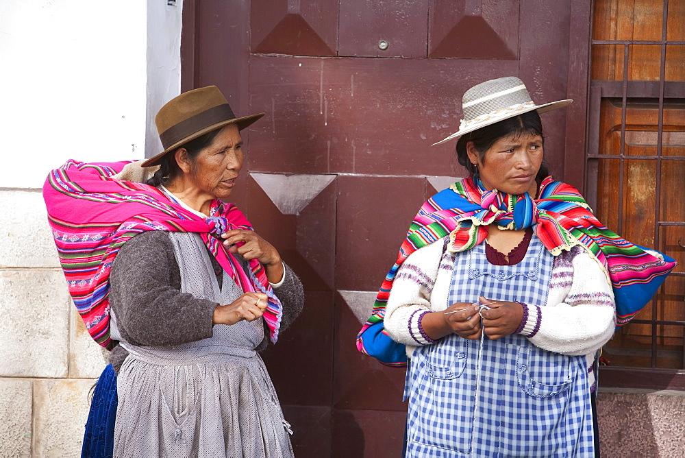 Aymara women, Sucre, Chuquisaca Department, Bolivia