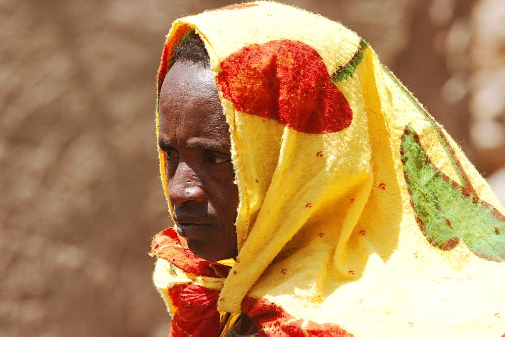Woman in a Dogon home in Neni, Mali