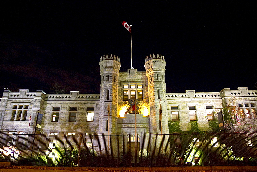 Royal Canadian Mint at night, Ottawa, Ontario, Canada