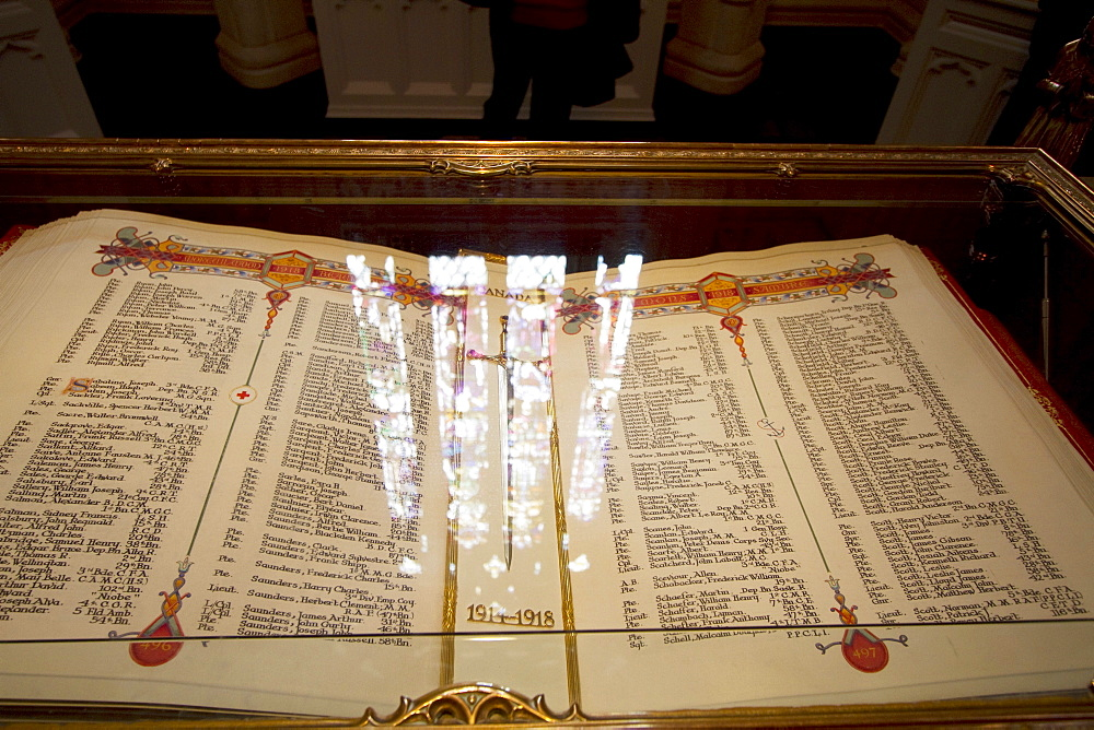 Canada's Books of Remembrance in the Memorial Chamber at the Parliament Buildings, Ottawa, Ontario, Canada