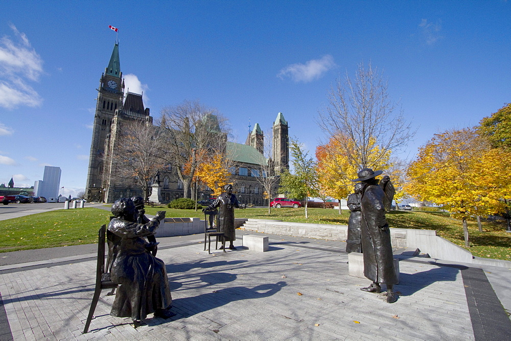 Women are persons statue on Parliament Hill, Ottawa, Ontario, Canada